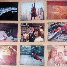 Cine: SUPERMAN. 1978. LOTE DE 9 FOTOCROMOS ORIGINALES 20,5X25,5. DC COMICS. Lote 173776978