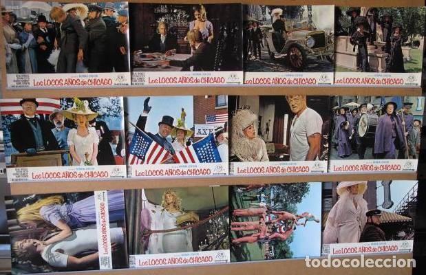 LOS LOCOS AÑOS DE CHICAGO. BEAU BRIDGES, MELINA MERCOURI. SET COMPLETO 12 FOTOCROMOS (Cine - Fotos, Fotocromos y Postales de Películas)