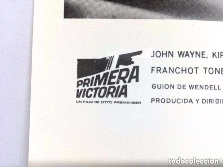 Cine: PRIMERA VICTORIA, JOHN WAYNE, KIRK DOUGLAS, PATRICIA NEAL, TOM TYRON, 16 FOTOCROMOS.MADE IN USA - Foto 18 - 100081283