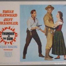 Cine: LCJ 949 EL DESFILADERO DE LA MUERTE SUSAN HAYWARD JEFF CHANDLER LOBBY CARD ORIGINAL AMERICANO. Lote 103496451