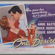 Cine: LCJ 1006 SU UNICO DESEO ROCK HUDSON ANNE BAXTER TITLE LOBBY CARD ORIGINAL AMERICANO. Lote 103521591