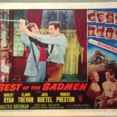 Cine: LCJ 1078 BEST OF THE BADMEN ROBERT RYAN WESTERN LOBBY CARD ORIGINAL AMERICANO. Lote 103598243