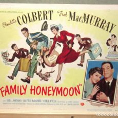 Cine: LCJ 1114 LUNA SIN MIEL CLAUDETTE COLBERT FRED MACMURRAY LOBBY CARD ORIGINAL AMERICANO. Lote 103612131