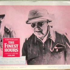 Cine: LCJ 1227 THE FINEST HOURS WINSTON CHURCHILL DOCUMENTAL WWII LOBBY CARD ORIG AMERICANO. Lote 104081047