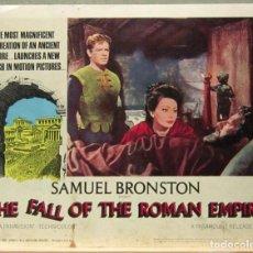 Cine: LCJ 1242 LA CAIDA DEL IMPERIO ROMANO SAMUEL BRONSTON LOBBY CARD ORIGINAL AMERICANO. Lote 104139747