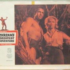 Cine: LCJ 1259 LA MAS INCREIBLE AVENTURA DE TARZAN GORDON SCOTT LOBBY CARD ORIGINAL AMERICANO. Lote 104176631