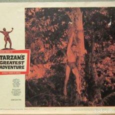 Cine: LCJ 1260 LA MAS INCREIBLE AVENTURA DE TARZAN GORDON SCOTT LOBBY CARD ORIGINAL AMERICANO. Lote 104176923