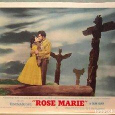 Cine: LCJ 1261 ROSE MARIE ANN BLYTH HOWARD KEEL LOBBY CARD ORIGINAL AMERICANO. Lote 104177847