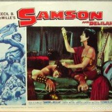 Cine: LCJ 1266 SANSON Y DALILA HEDY LAMARR VICTOR MATURE CECIL B. DEMILLE LOBBY CARD ORIGINAL AMERICANO. Lote 104178191
