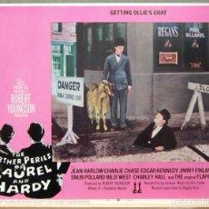 Cine: LCJ 1271 THE FURTHER PERILS OF LAUREL & HARDY STAN LAUREL OLIVER HARDY LOBBY CARD ORIGINAL AMERICANO. Lote 104179375