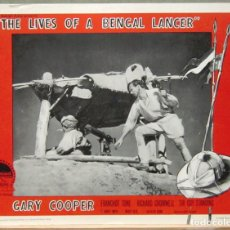 Cine: LCJ 1273 TRES LANCEROS BENGALIES GARY COOPER LOBBY CARD ORIG AMERICANO. Lote 104179695