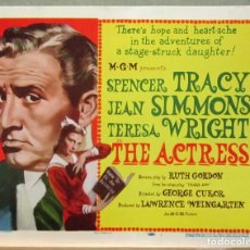 Cine: LCJ 1274 THE ACTRESS SPENCER TRACY JEAN SIMMONS TITLE LOBBY CARD ORIG AMERICANO. Lote 104179819