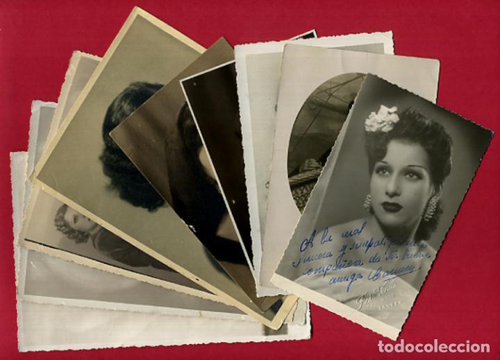 Cine: LOTE DE 9 FOTOS FOTOGRAFIAS DE CARMEN VIANCE ?? , ARTISTA , ORIGINAL , PW44 - Foto 2 - 104971331