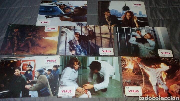 VIRUS JOHN SAXON 8 FOTOCROMOS ORIGINALES Q (Cine - Fotos, Fotocromos y Postales de Películas)