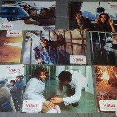Cine: VIRUS JOHN SAXON 8 FOTOCROMOS ORIGINALES Q. Lote 36359159
