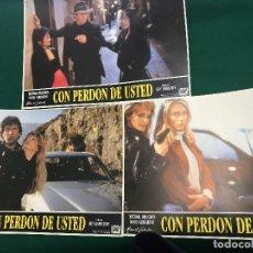 Cinéma: R60- LOTE DE 3 FOTOCROMOS PELICULA - CON PERDON DE USTED. Lote 107340583