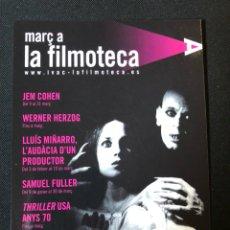 Cine: TARJETA POSTAL PROGTAMA FILMOTECA VALENCIA.WERNER HERZOG.KLAUS KINSKI. Lote 107348092