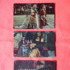 Cine: JERUSALEN LIBERTADA, 3 FOTOCROMOS AÑOS 20 CINE MUDO, CHOCOLATES IMPERIAL. Lote 109285055