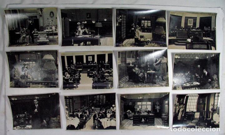 19 FOTOGRAFÍAS ORIGINALES PELICULA VICTIMA DEL ODIO. AÑOS 20. JOSE BUCHS. CINE ESPAÑA. PIONERO (Cine - Fotos, Fotocromos y Postales de Películas)