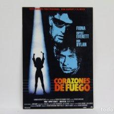 Cine: POSTAL/TARJETA PUBLICITARIA DE CINE - CORAZONES DE FUEGO - RUPERT EVERETT, BOB DYLAN - LAUREN FILMS. Lote 109364211