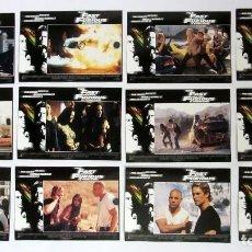 Cine: THE FAST AND THE FURIOUS (A TODO GAS) LOTE COMPLETO DE 12 FOTOCROMOS ORIGINALES NUEVOS. Lote 109456683