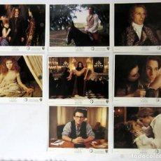 Cine: INTERVIEW WITH THE VAMPIRE ENTREVISTA CON EL VAMPIRO LOTE DE 8 FOTOCROMOS ORIGINALES USA. Lote 109474059