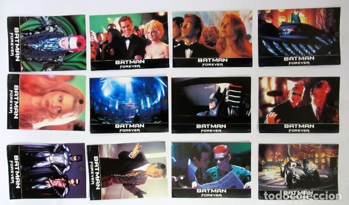 BATMAN FOREVER LOTE COMPLETO DE 12 FOTOCROMOS ORIGINALES (Cine - Fotos, Fotocromos y Postales de Películas)