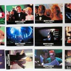 Cine: BATMAN FOREVER LOTE COMPLETO DE 12 FOTOCROMOS ORIGINALES . Lote 109475987