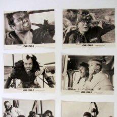 Cine: MAD MAX 2 EL GUERRERO DE LA CARRETERA LOTE DE 6 FOTOGRAFÍAS ORIGINALES EN BLANCO Y NEGRO. Lote 109477307