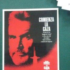 Cine: POSTAL PELICULA LA CAZA DEL OCTUBRE ROJO. Lote 109490567