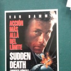 Cine: POSTAL PELICULA MUERTE SUBITA. Lote 109490887