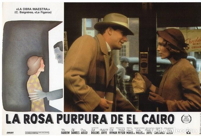 LA ROSA PURPURA DEL CAIRO. (WOODY ALLEN) 7 FOTOCROMOS DE LA PELICULA (Cine - Fotos, Fotocromos y Postales de Películas)