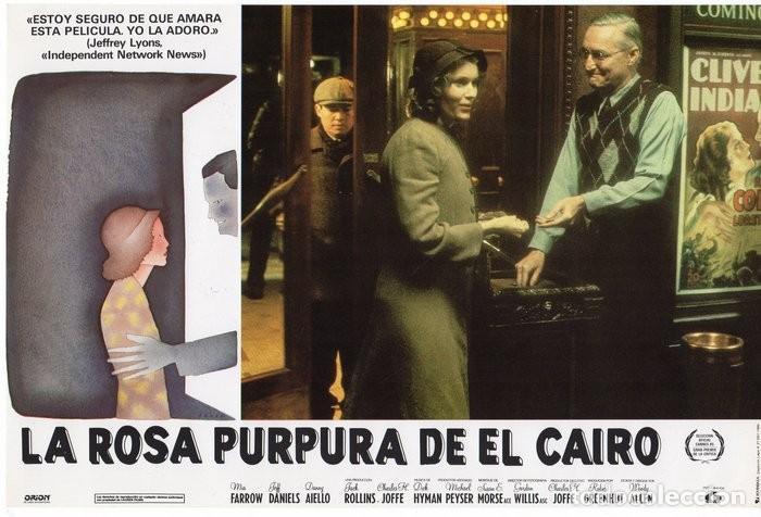 Cine: LA ROSA PURPURA DEL CAIRO. (WOODY ALLEN) 7 FOTOCROMOS DE LA PELICULA - Foto 2 - 112035395