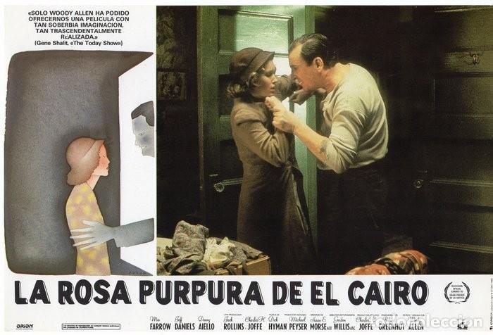 Cine: LA ROSA PURPURA DEL CAIRO. (WOODY ALLEN) 7 FOTOCROMOS DE LA PELICULA - Foto 3 - 112035395