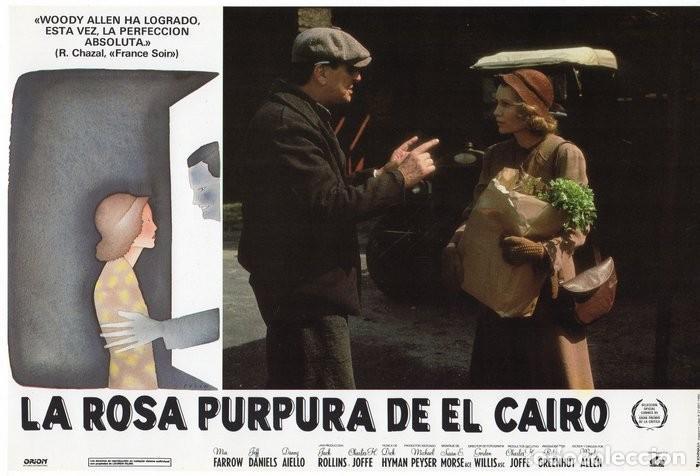 Cine: LA ROSA PURPURA DEL CAIRO. (WOODY ALLEN) 7 FOTOCROMOS DE LA PELICULA - Foto 4 - 112035395