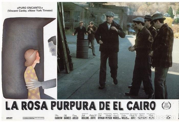 Cine: LA ROSA PURPURA DEL CAIRO. (WOODY ALLEN) 7 FOTOCROMOS DE LA PELICULA - Foto 5 - 112035395