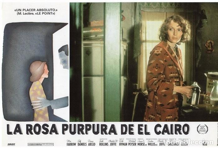 Cine: LA ROSA PURPURA DEL CAIRO. (WOODY ALLEN) 7 FOTOCROMOS DE LA PELICULA - Foto 6 - 112035395