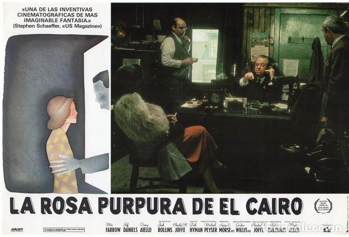 Cine: LA ROSA PURPURA DEL CAIRO. (WOODY ALLEN) 7 FOTOCROMOS DE LA PELICULA - Foto 7 - 112035395