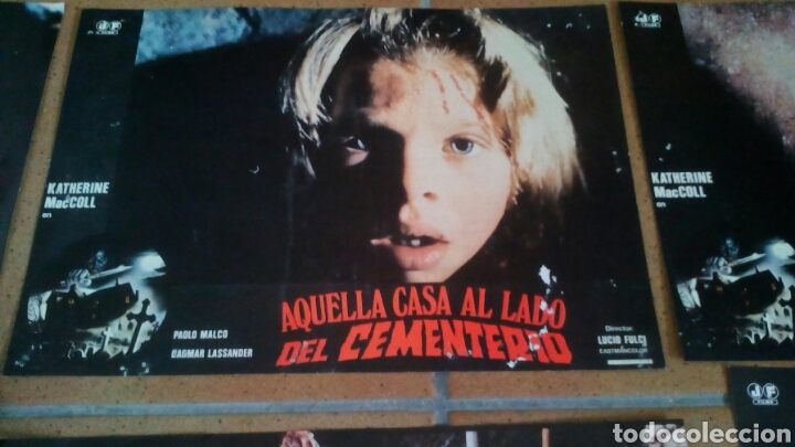 Cine: AQUELLA CASA AL LADO DEL CEMENTERIO LUCIO FULCI GORE CULT JUEGO COMPLETO - Foto 2 - 112320611