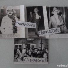 Cine: MARLENE DIETRICH INTERESANTE LOTE 4 FOTOS ORIGINALES ANTIGUAS AÑOS 70. Lote 112889235
