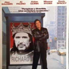 Cine: AL PACINO LOOKING FOR RICHARD DÍPTICO PUBLICIDAD PARA PRENSA 49 X 29 CM. Lote 113416587