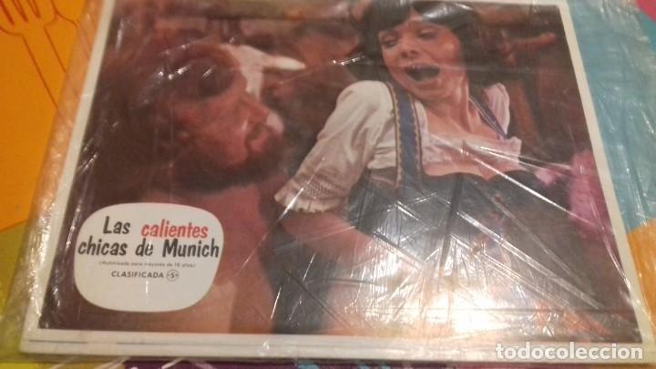 10 FOTOCROMOS ORIGINALES - LAS CALIENTES CHICAS DE MUNICH 1972 - WALTER BOOS - JUEGO COMPLETO (Cine - Fotos, Fotocromos y Postales de Películas)