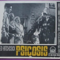 Cine: PSICOSIS, ALFRED HITCHCOCK, ANTHONY PERKINS, VERA MILES, 1961, 12 FOTOCROMOS. Lote 115710727
