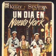 Cine: P-7401- UN DIA EN NUEVA YORK (ON THE TOWN) (CALENDARIO DE BOLSILLO 1990) GENE KELLY - FRANK SINATRA. Lote 116121859