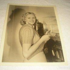 Cine: DELLA LIND , 1938 , FOTO ORIGINAL 26 X 20 CM.. Lote 116245055