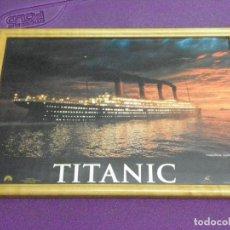 Cine: CUADRO DE LA PELÍCULA TITANIC A PARTIR DE LOBBY CARD. CARTELERA.. Lote 117375219