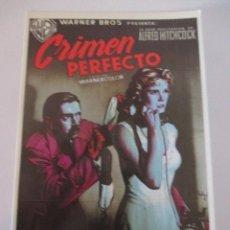 Cine: POSTAL CRIMEN PERFECTO ALFRED HITCHCOCK GRACE KELLY RAY MILLAND ROBERT CUMMINGS. Lote 117677115