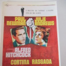Cine: POSTAL CORTINA RASGADA ALFRED HITCHCOCK PAUL NEWMAN JULIE ANDREWS. Lote 117677283