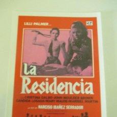 Cine: OCTAVILLA PAPEL LA RESIDENCIA NARCISO CHICHO IBÁÑEZ SERRADOR LILLI PALMER CRISTINA GALBO 14 X 10 CMS. Lote 117677647