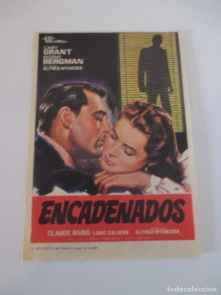 OCTAVILLA PAPEL ENCADENADOS ORIGINAL DE 1967 ALFRED HITCHCOCK CARY GRANT INGRID BERGMAN 13 X 9 (Cine - Fotos, Fotocromos y Postales de Películas)